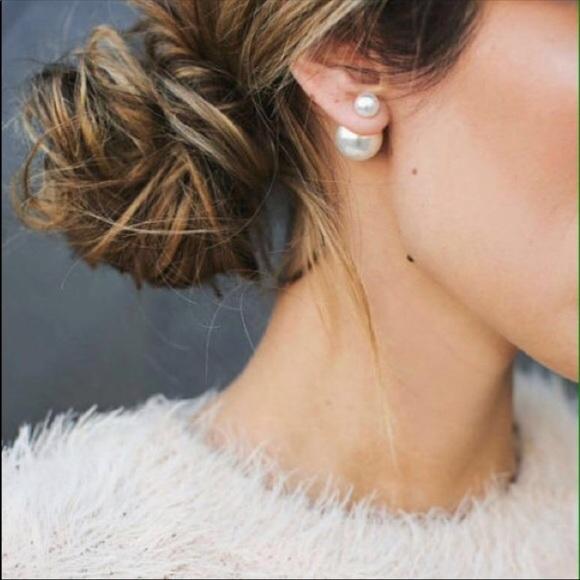 253f0b1747b328 Dior Jewelry | Pearl Earrings Tribales In Gold Finish | Poshmark